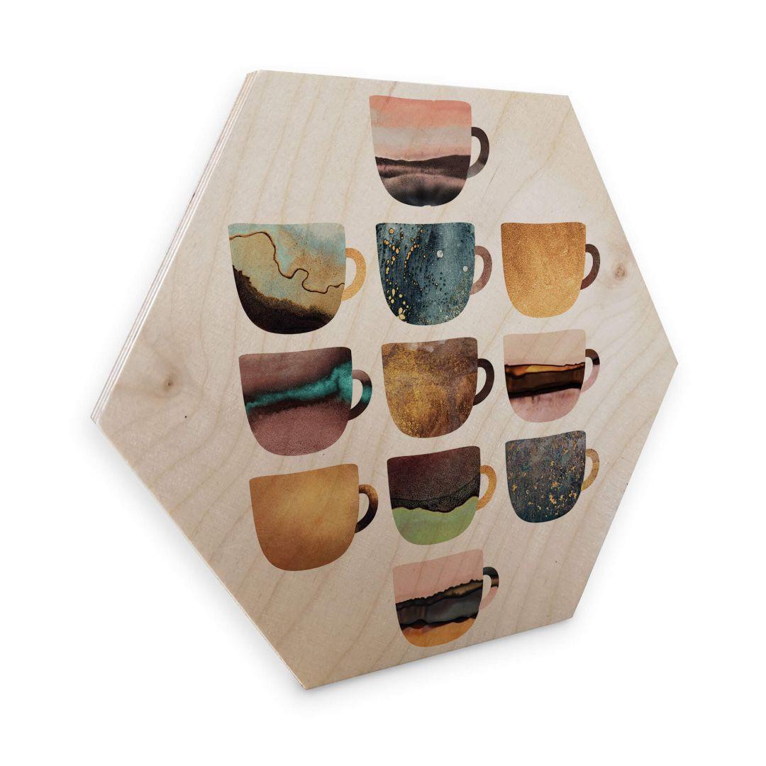 Hexagon - Holz Birke-Furnier - Fredrikkson: Kaffeetassen: Pretty Nature - WA253190
