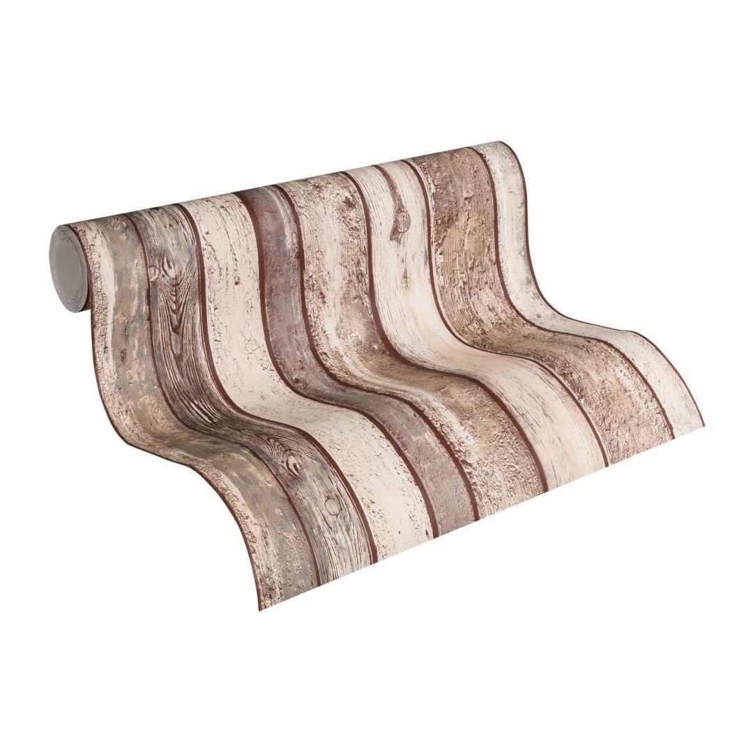 A.S. Création Vliestapete il Decoro Tapete in Vintage Holz Optik beige, braun, grau - WA268355
