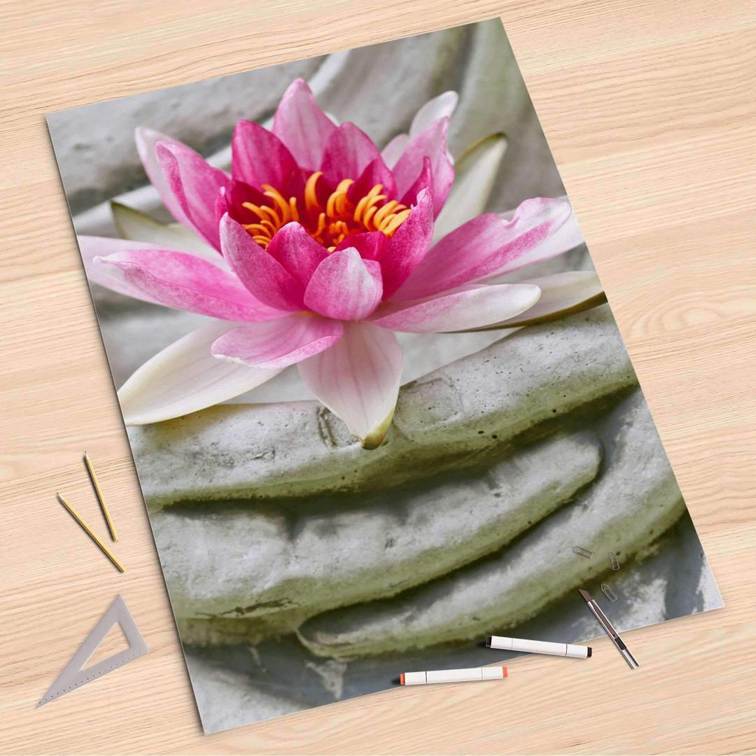 Folienbogen (80x120cm) - Flower Buddha - CR107314