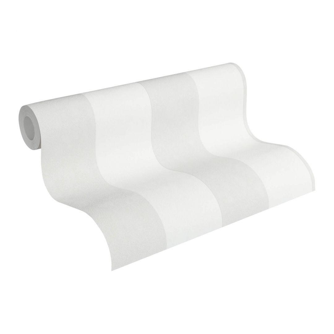 Vliestapete Premium Wall Tapete Blockstreifentapete creme, grau - WA251039