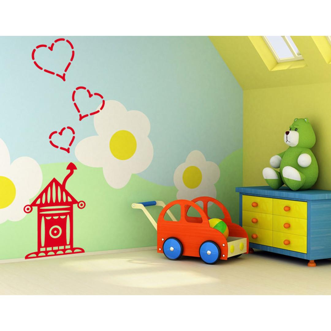 Wandtattoo Haus mit Herzen - TD16606