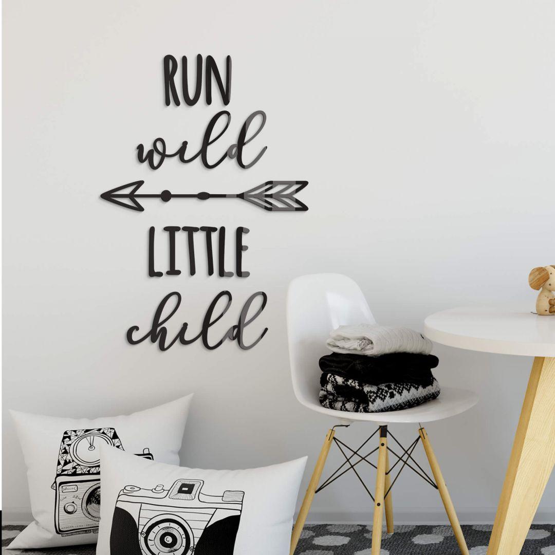 Acryldeko Run wild little child - WA288378