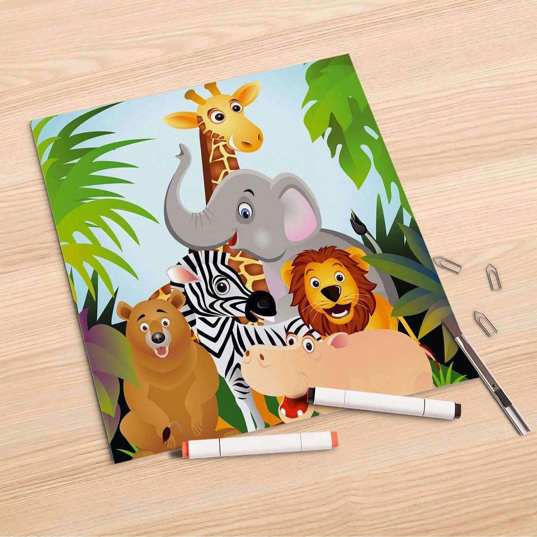 Folienbogen (30x30cm) - Wild Animals - CR106990
