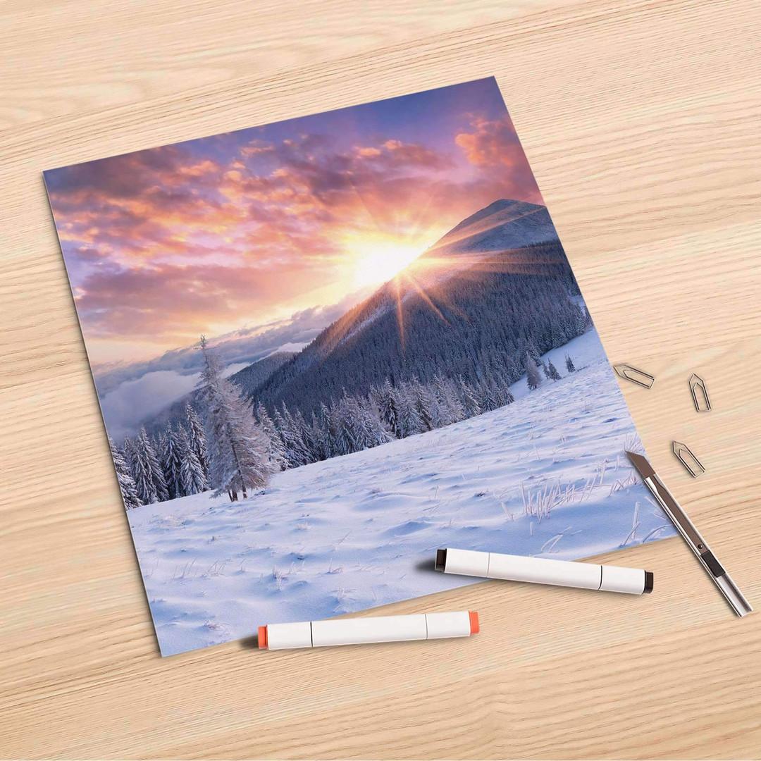 Folienbogen (30x30cm) - Zauberhafte Winterlandschaft - CR107001