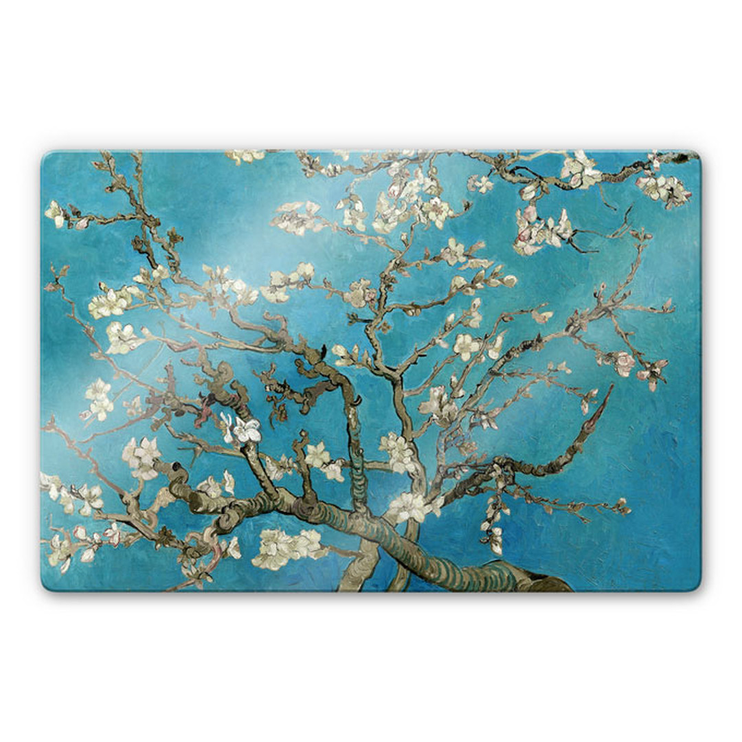 Glasbild van Gogh - Mandelblüte - WA245073