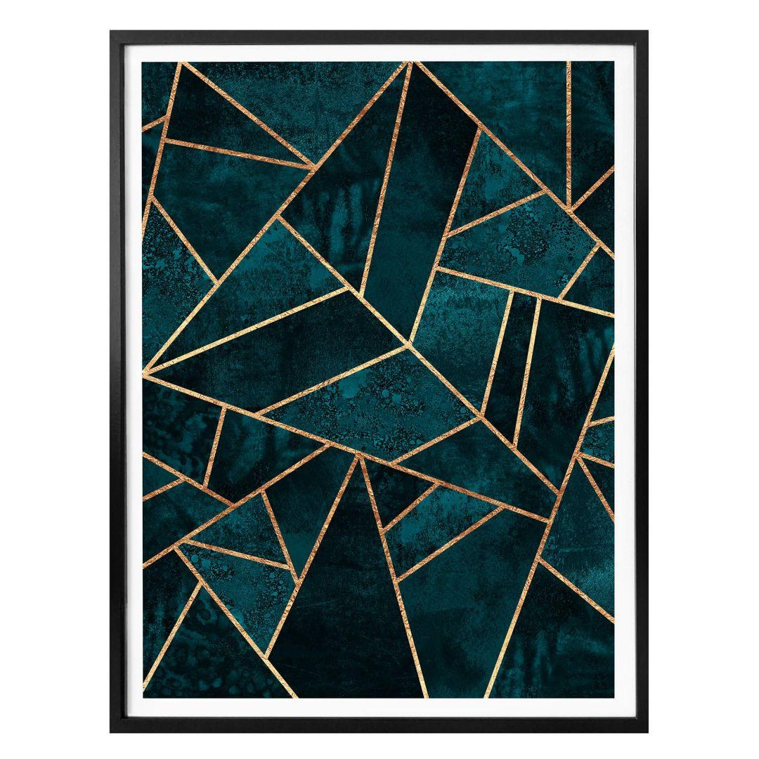 Poster Fredriksson - Blau-grüner Edelstein - WA257434