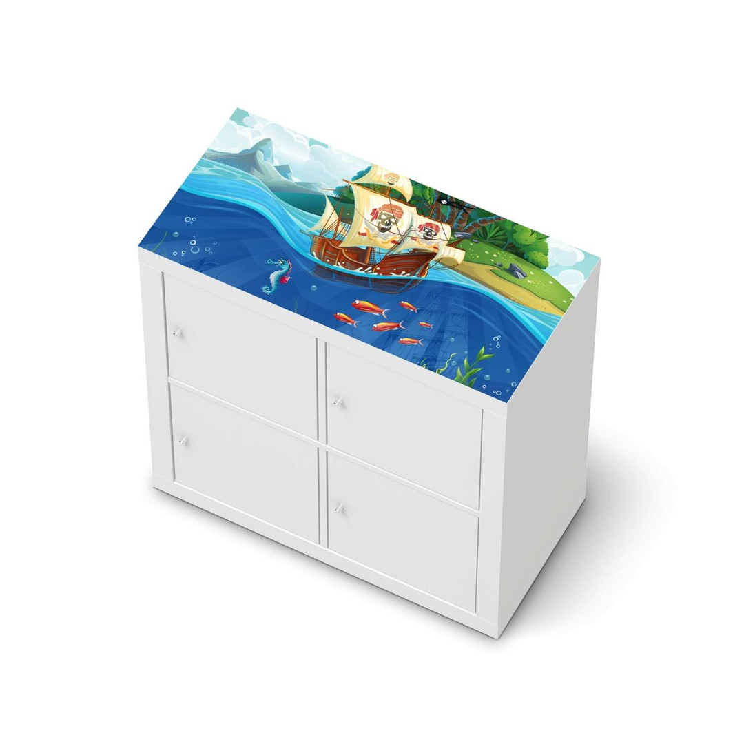 Möbelfolie IKEA Expedit Regal oben - Pirates - CR114657