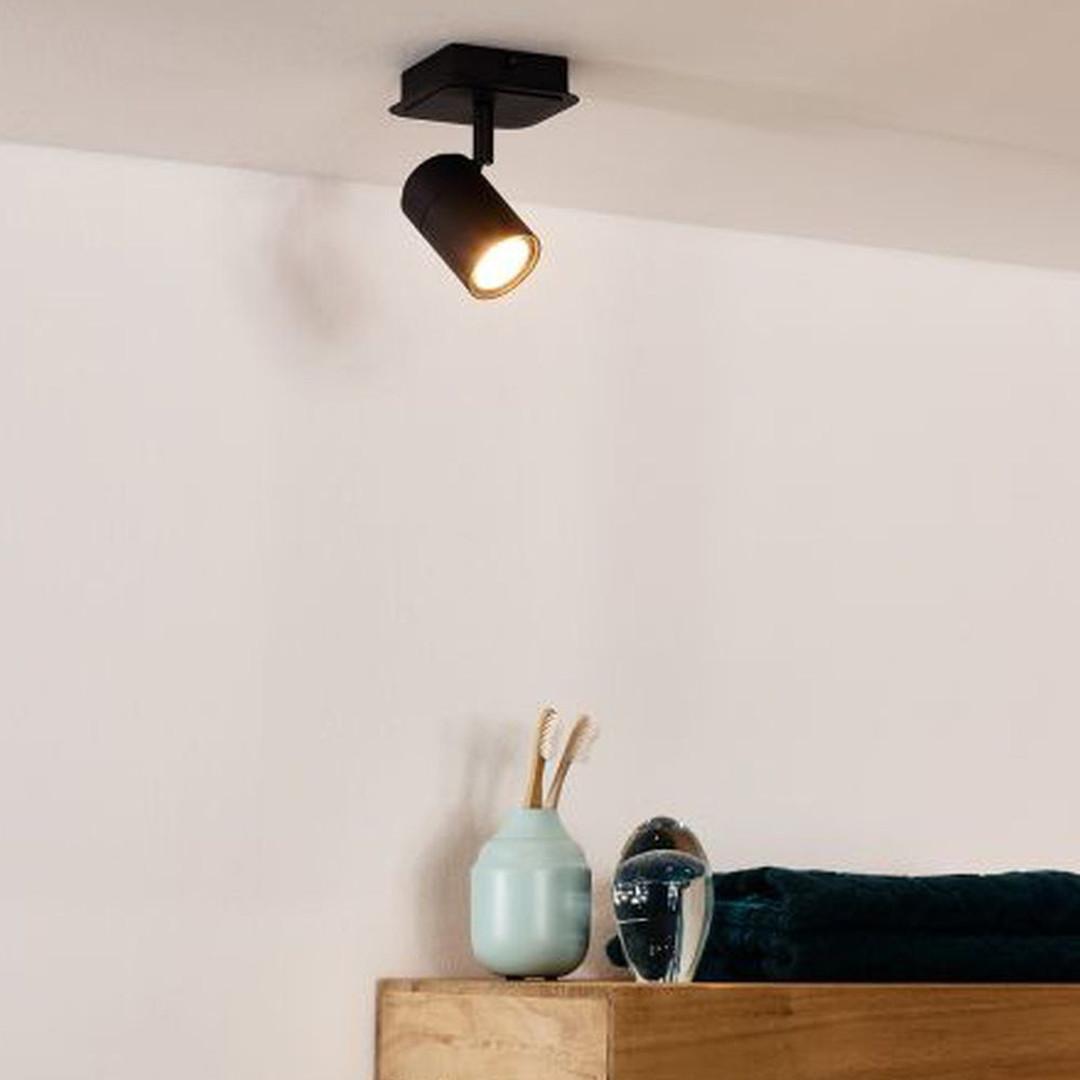 LED Deckenstrahler Lennert aus Metall 5W GU10 IP44 1-flammig - CL120355
