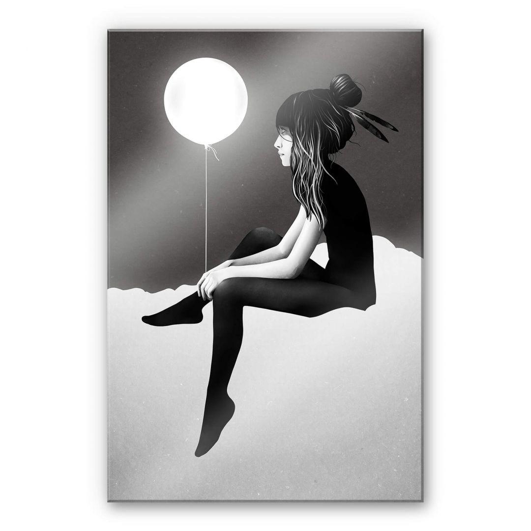 Acrylglasbild Ireland - No such thing as nothing by night - leuchtender Ballon - WA251775