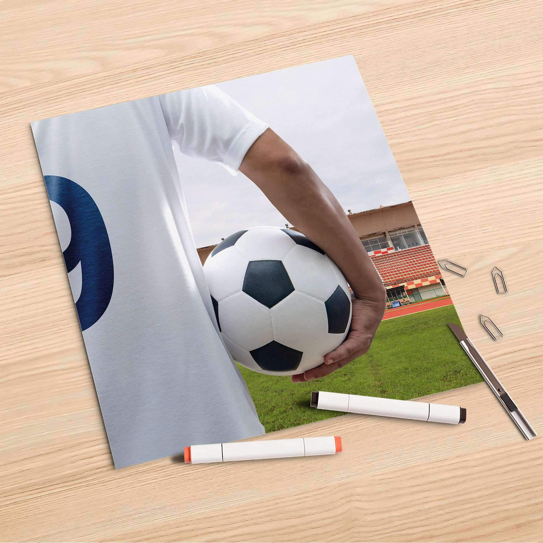 Folienbogen (30x30cm) - Footballmania - CR106828