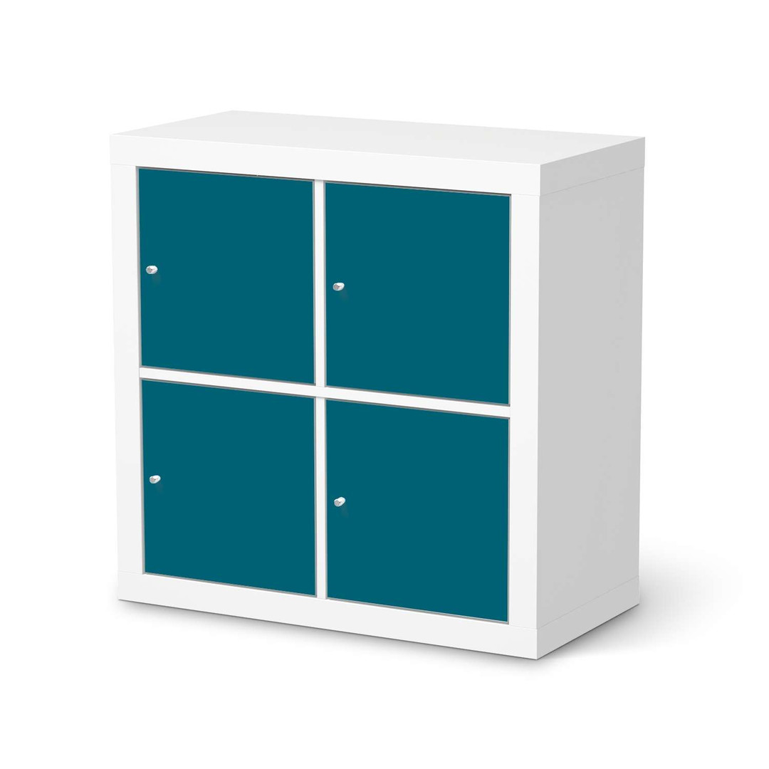 Möbelfolie IKEA Expedit Regal 4 Türen - Türkisgrün Dark - CR114600