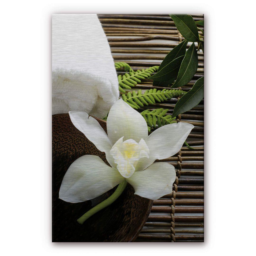 Alu-Dibond-Silbereffekt Wellness Orchidee - WA288579