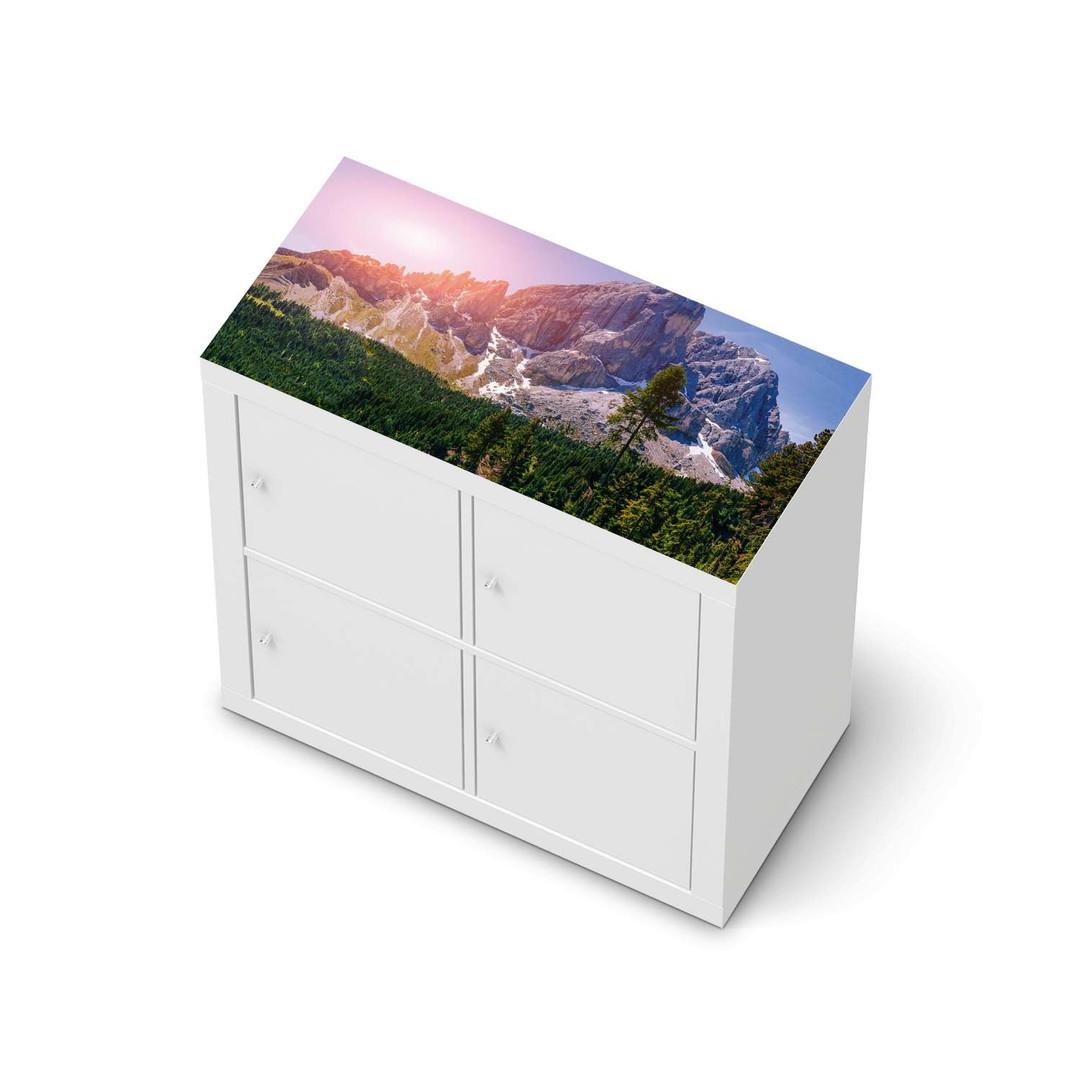 Möbelfolie IKEA Expedit Regal oben - Alpenblick - CR114609