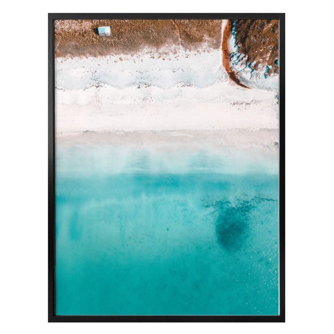 Poster Der Blick von oben: Weisser Sandstrand - WA257247