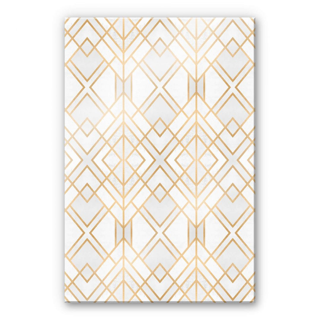 Acrylglasbild Fredriksson - Goldene Geometrie - WA251683