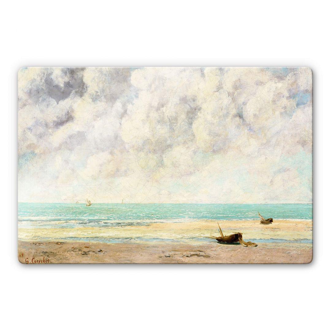 Glasbild Courbet - Die ruhige See - WA252731
