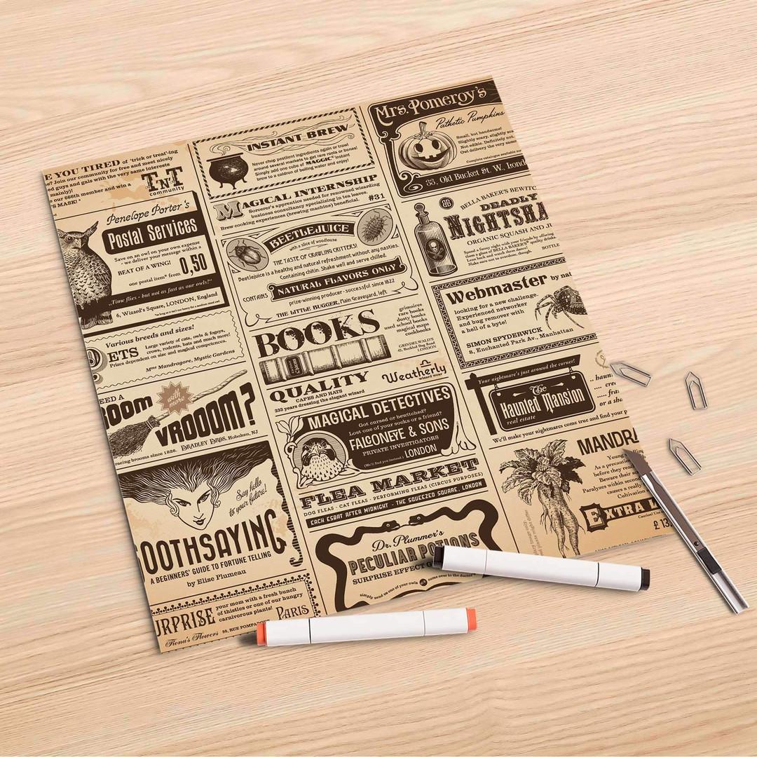 Folienbogen (30x30cm) - Vintage Newspaper - CR106983