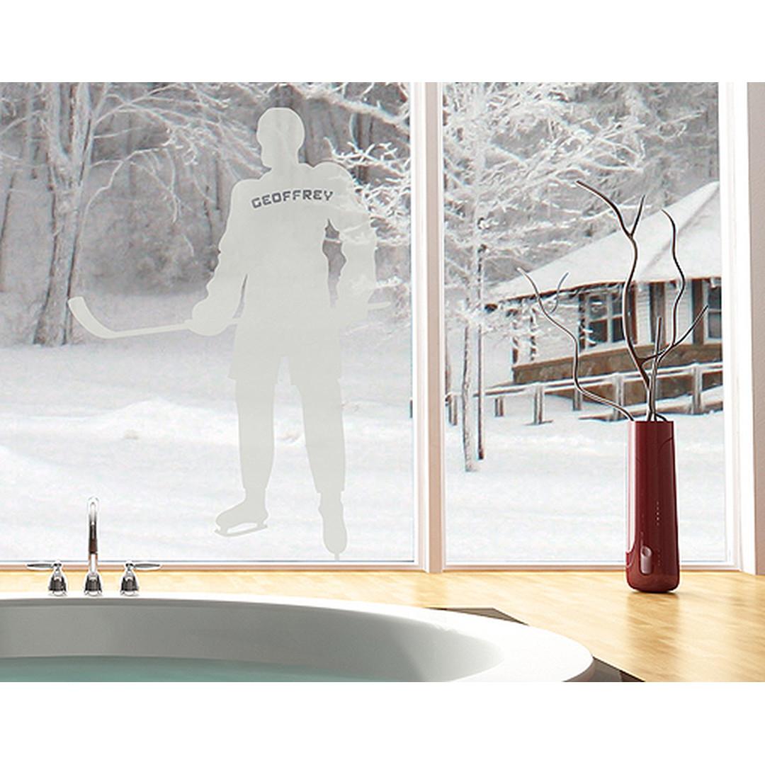 Glasdekor Wunschtext Einshockey Spieler - CG10419