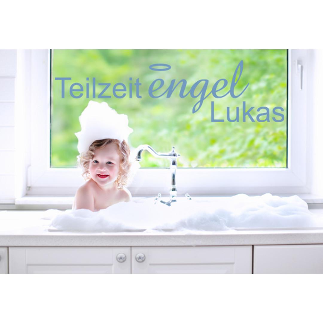 Glasdekor Wunschtext Teilzeit Engel - CG10215