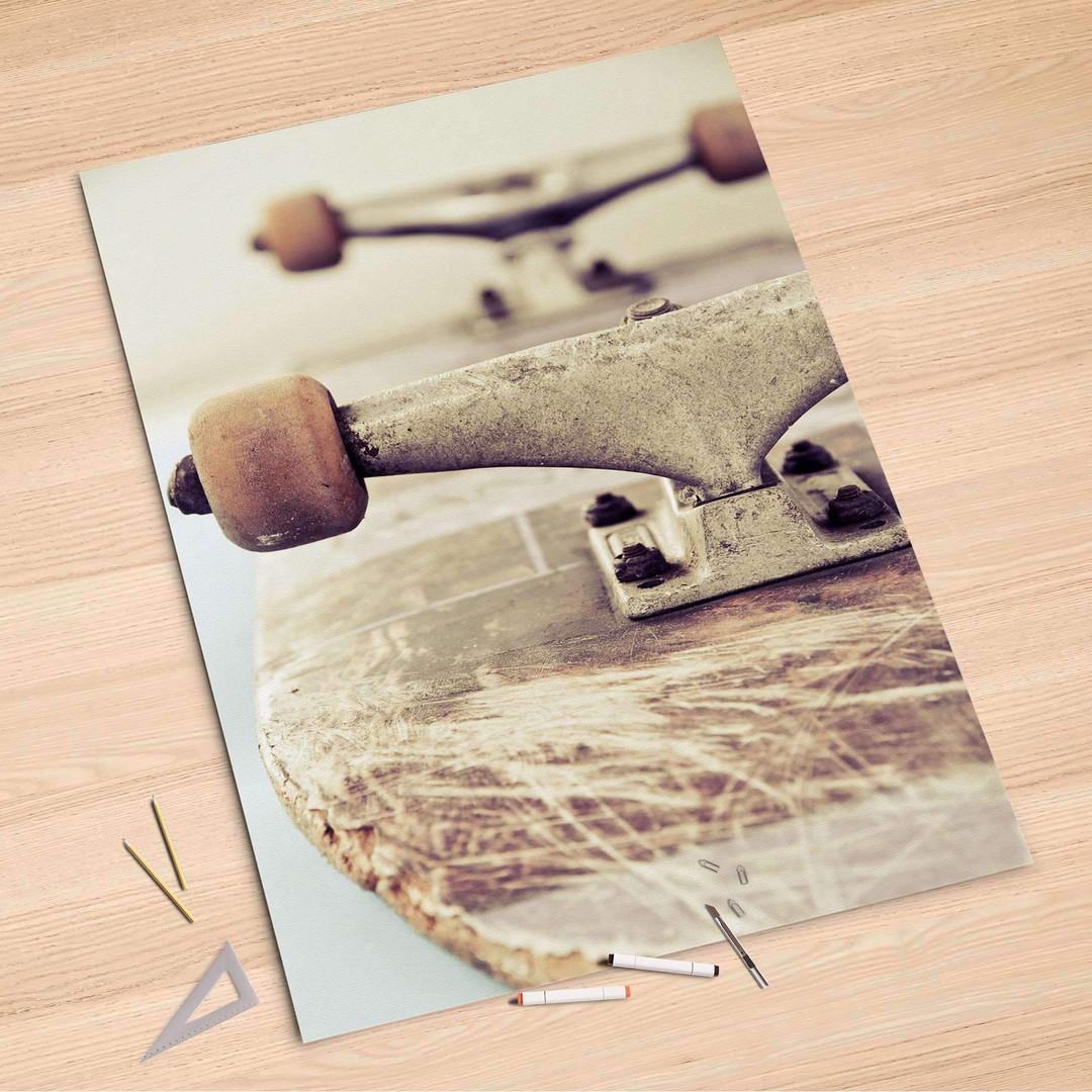 Folienbogen (100x150cm) - Skateboard - CR106263