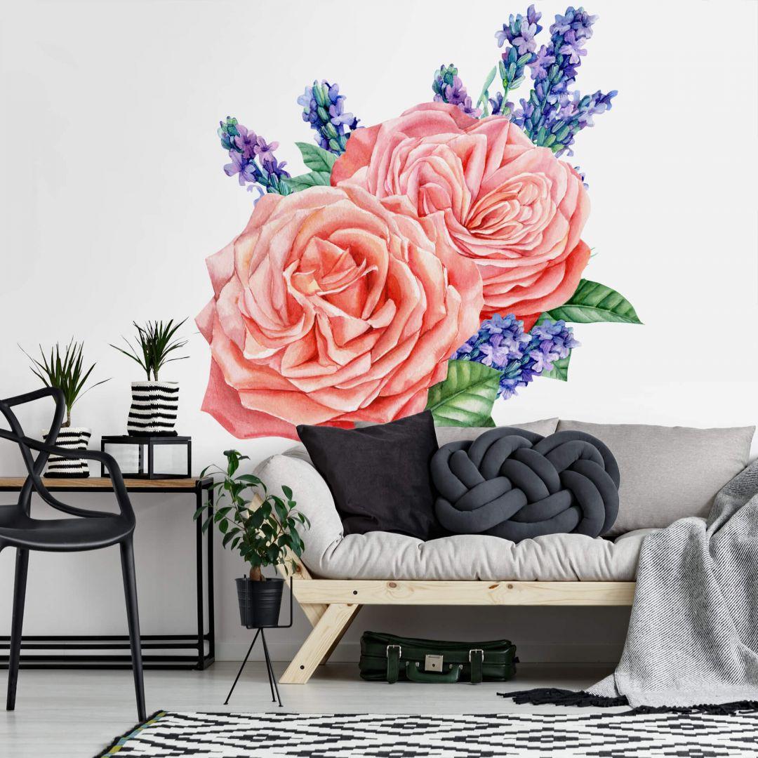 Wandtattoo Rosen Harmonie rosé XXL - WA284020