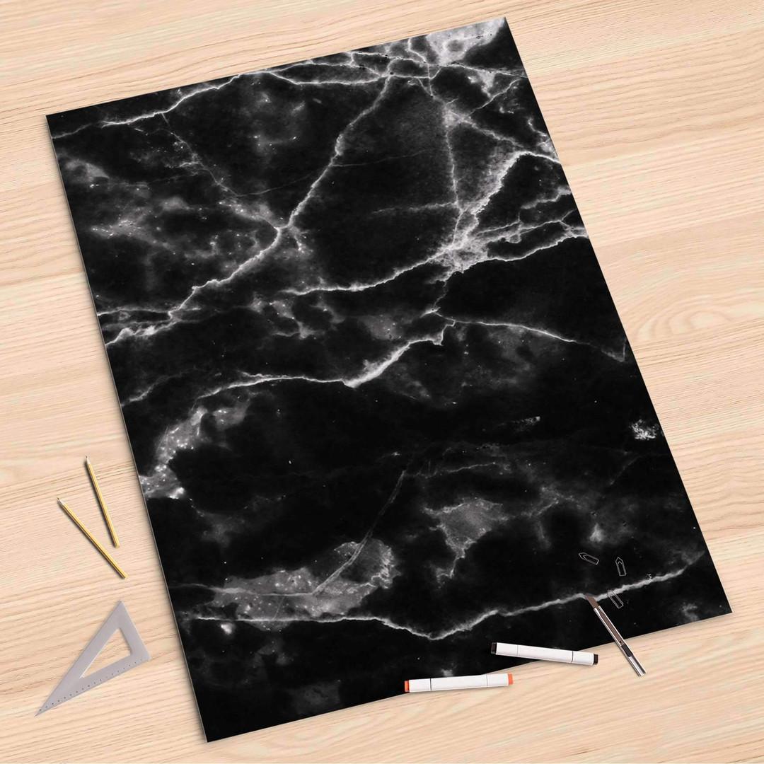 Folienbogen (80x120cm) - Marmor schwarz - CR107367