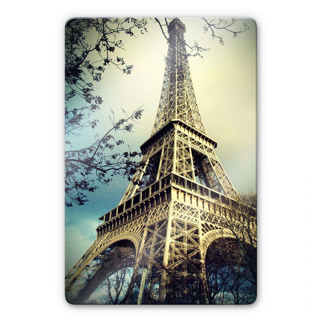 LED Leinwandbild Eiffelturm Wandbild Paris Bild Wanddekoration LED-Bild Objekt