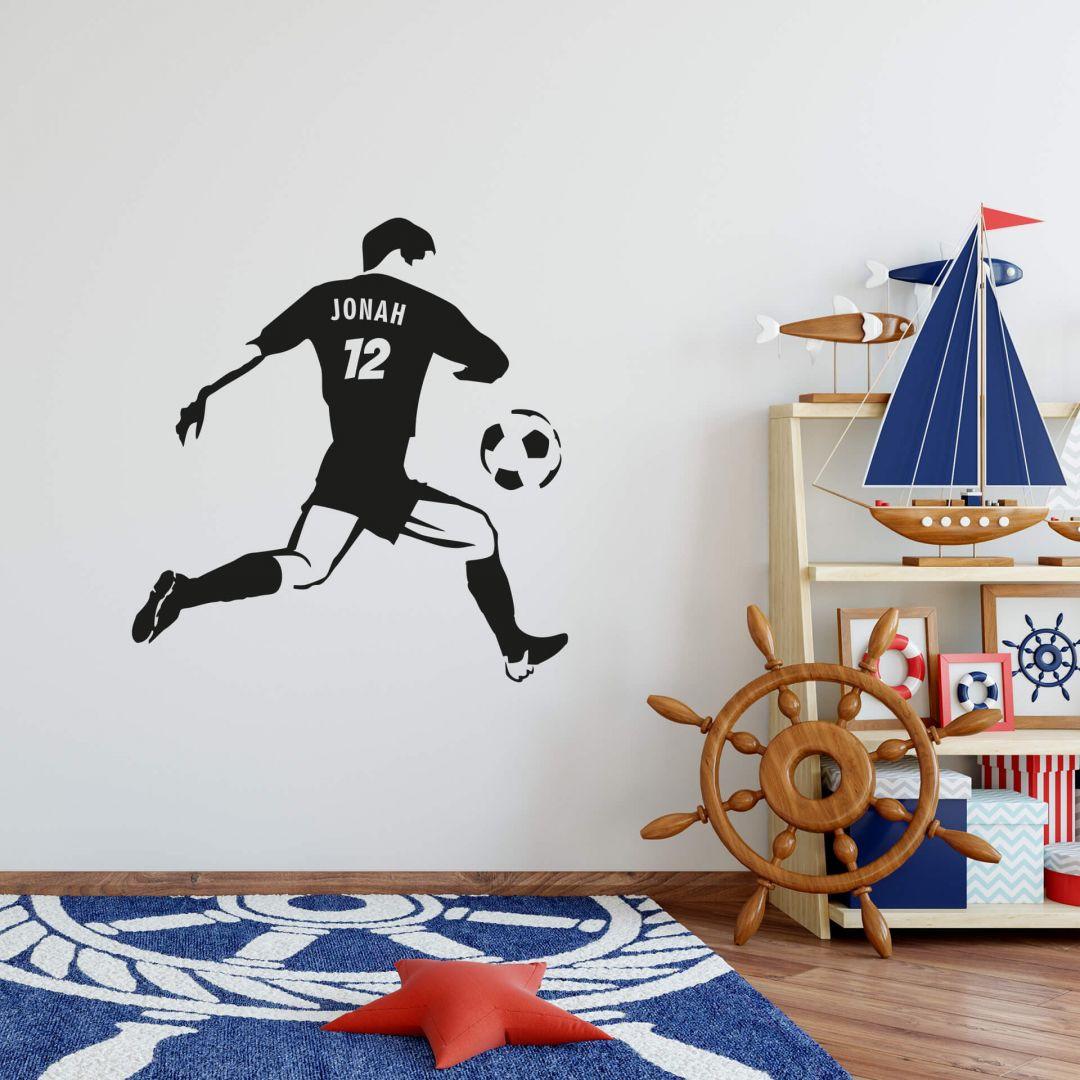 Wandtattoo + Name Fussballspieler - WA204420
