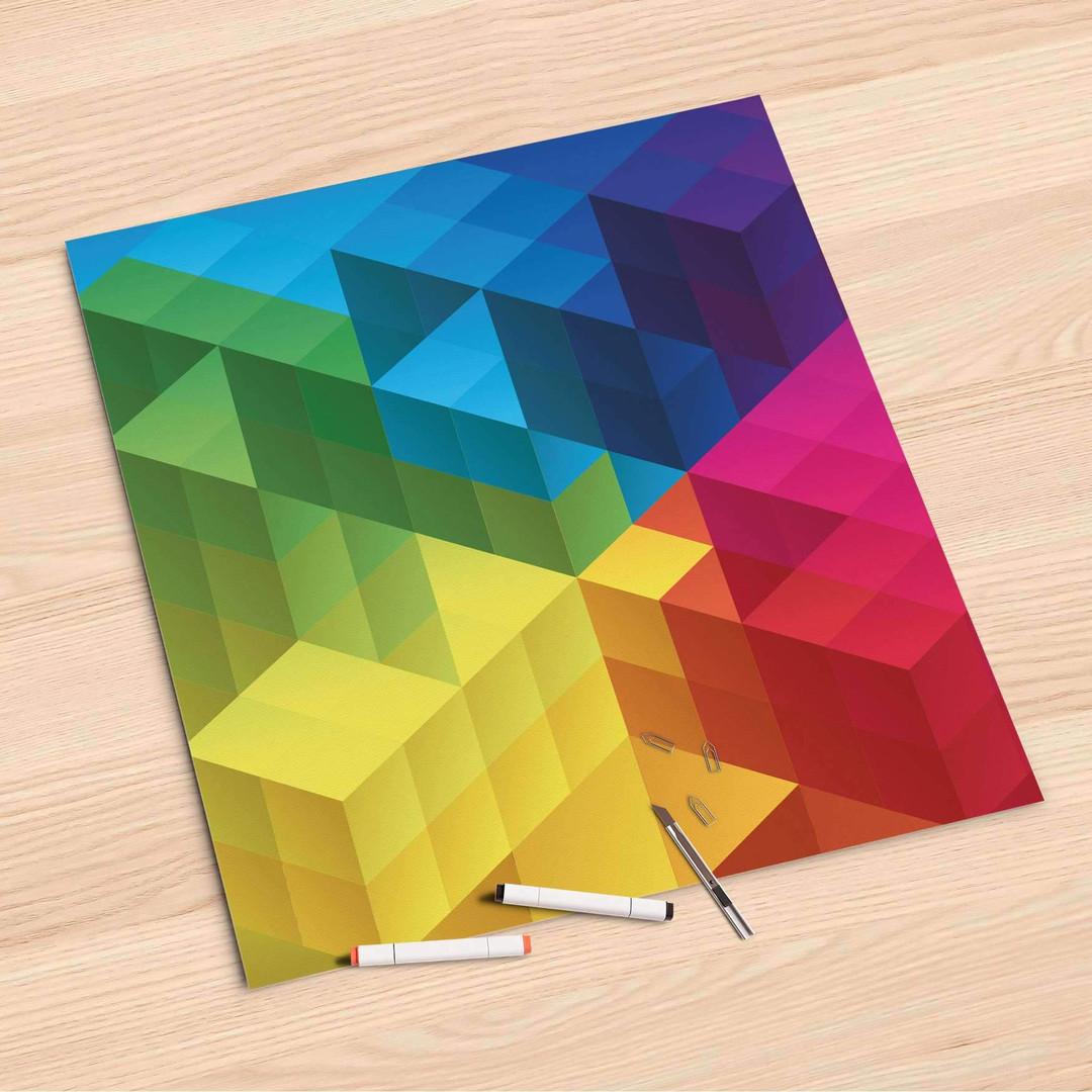 Folienbogen (60x60cm) - Colored Cubes - CR107046