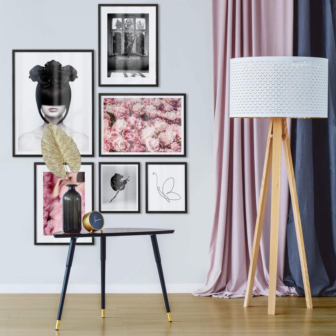 Poster-Set mit Bilderrahmen Feminin (6er Set) - WA259276