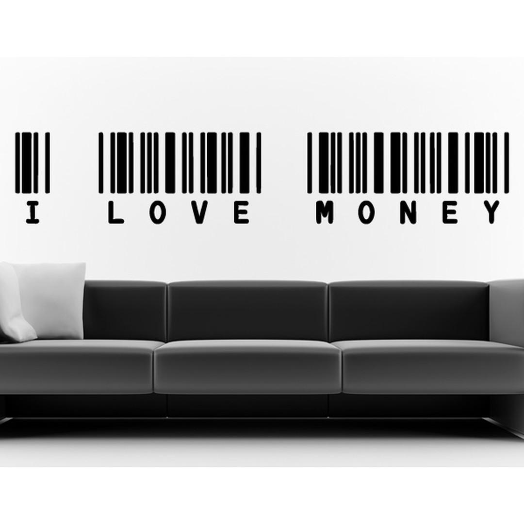 Wandtattoo I LOVE MONEY - TD16483