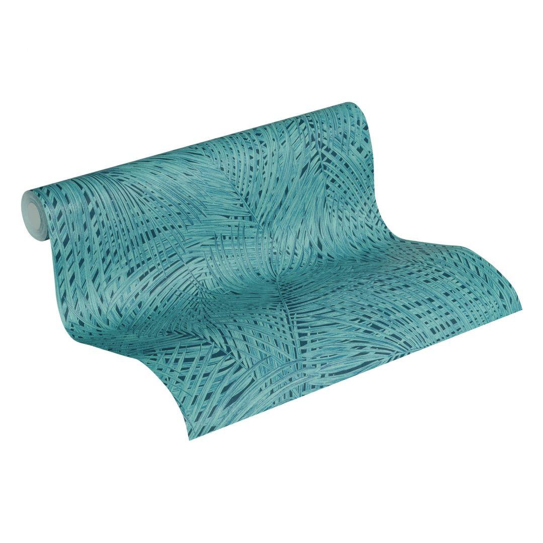 A.S. Création Vliestapete Sumatra Tapete mit Palmenblättern blau, grün - WA288278