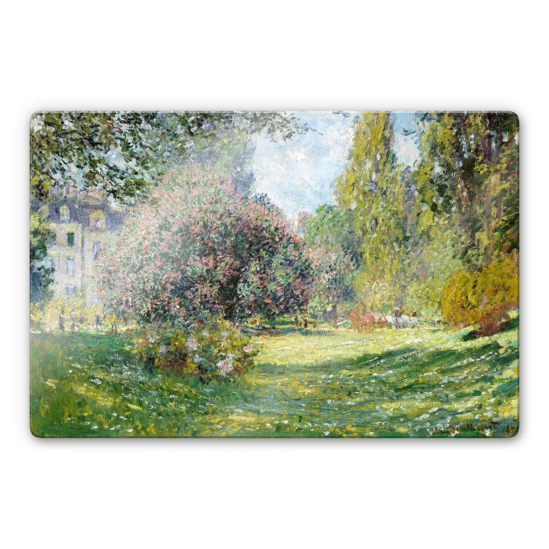 Glasbild Monet - Der Park Monceau - WA252956