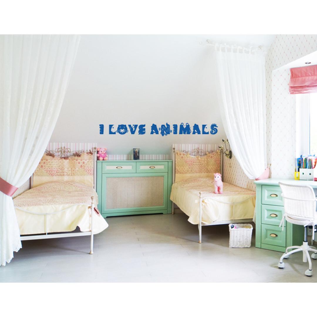 Wandtattoo I love animals - TD16428