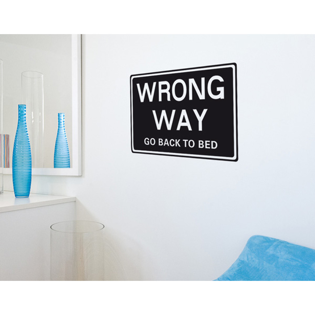 Wandtattoo Wrong Way - TD16348
