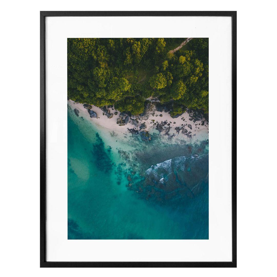 Poster Der Blick von oben: Wald und Meer - WA257239