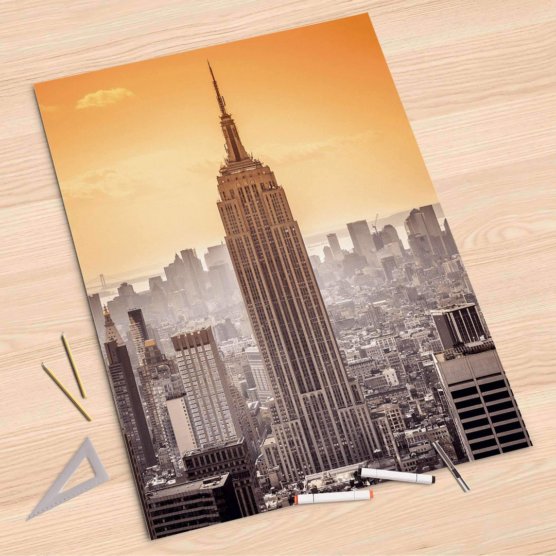 Folienbogen (80x120cm) - Empire State Building - CR107302