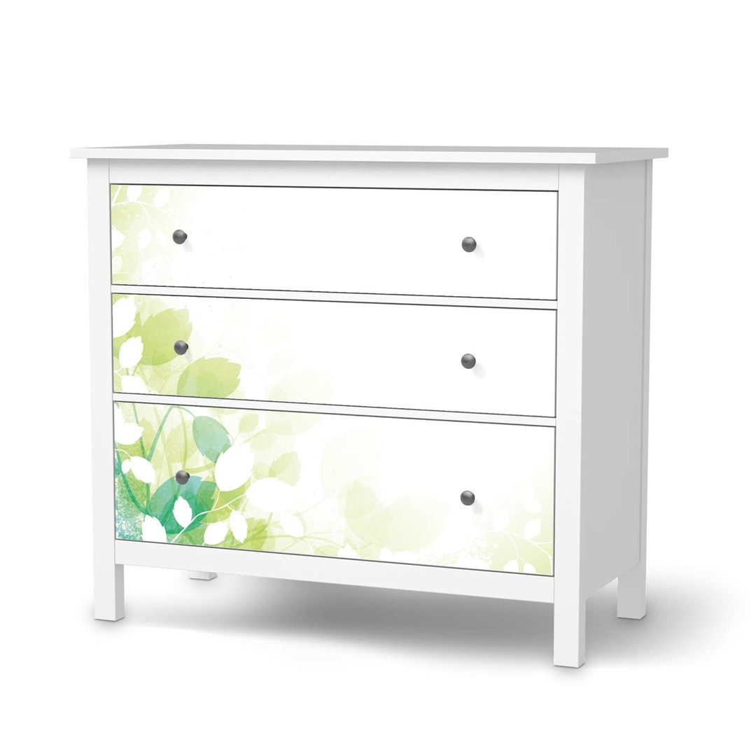 Möbelfolie IKEA Hemnes Kommode 3 Schubladen - Flower Light - CR114721