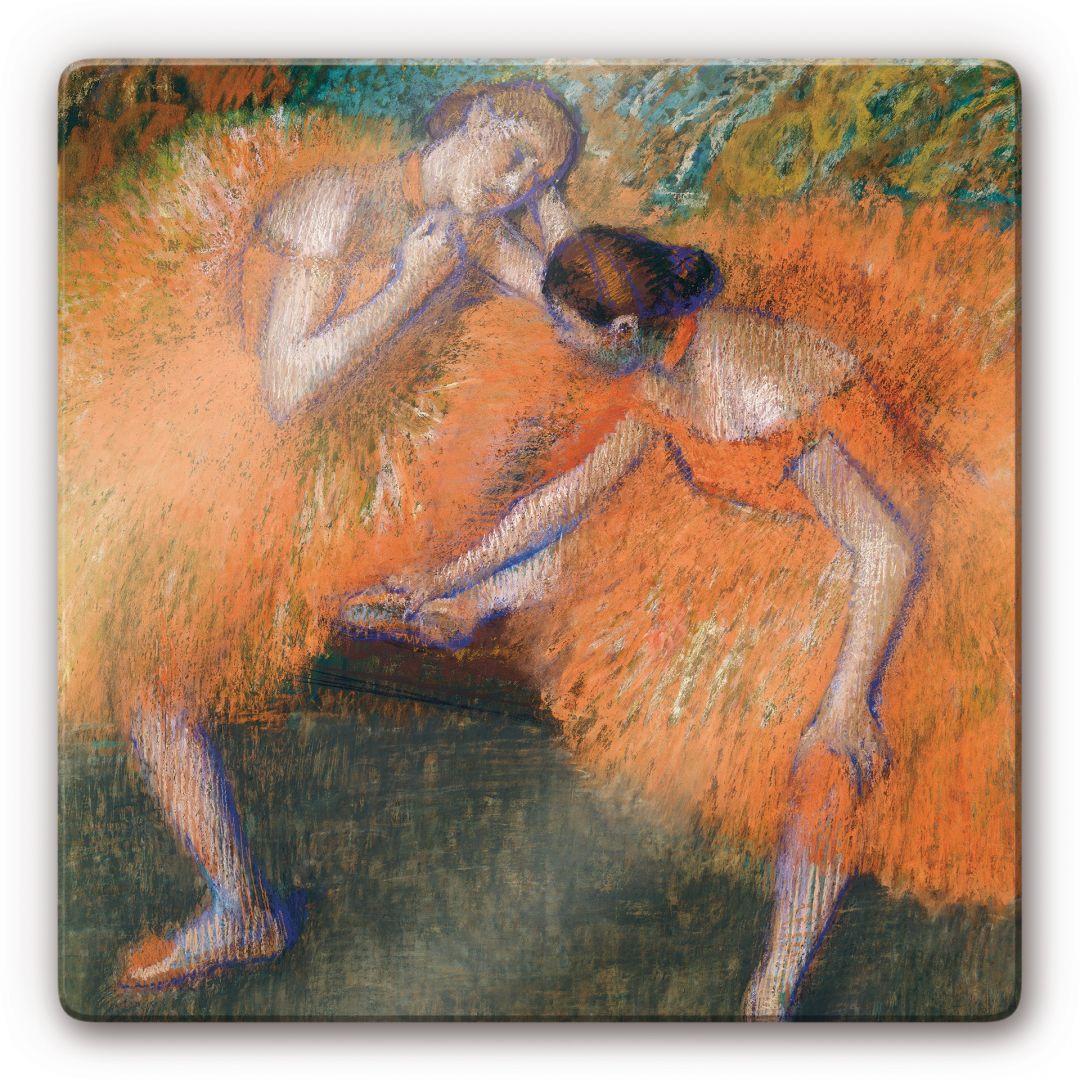 Glasbild Degas - Zwei Tänzerinnen - WA122174