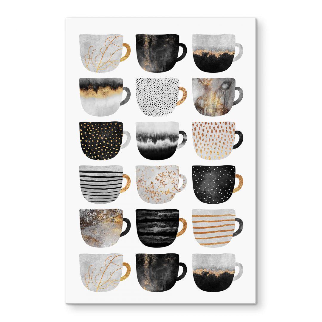 Glasbild Fredriksson - Kaffeetassen: Pretty Black & Gold - WA288876
