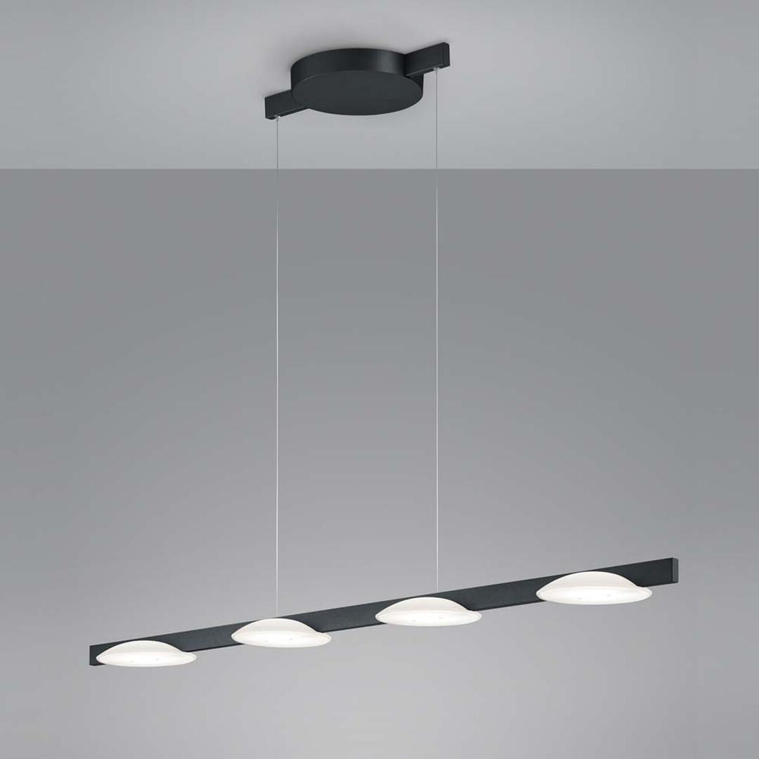 LED Pendelleuchte Pole in Schwarz-matt 4x 9W 4x 1365lm 1255mm - CL120535