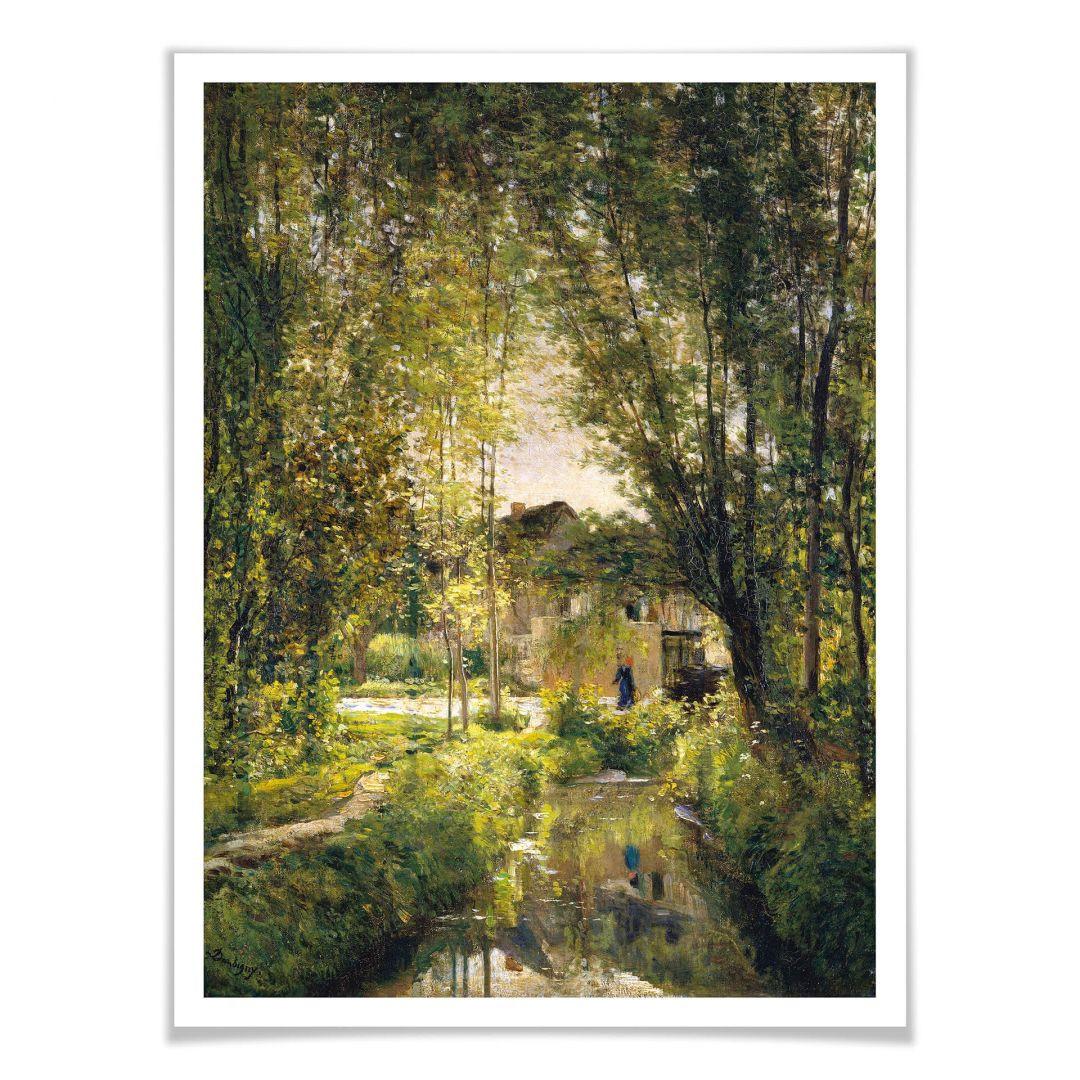 Poster Daubigny - Landschaft mit Sonnenlicht - WA257175