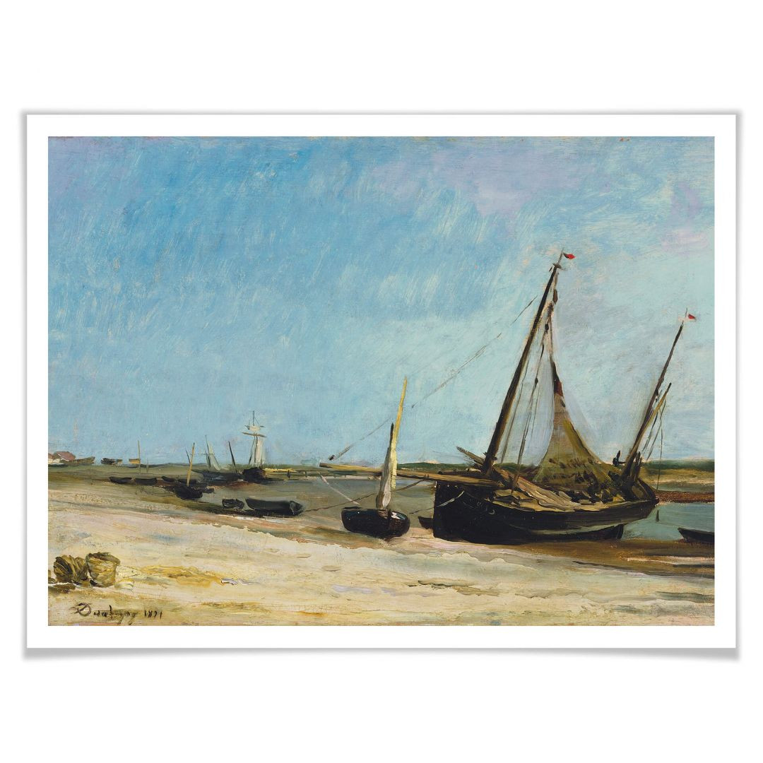 Poster Daubigny - Boote am Strand von Ètaples - WA257169