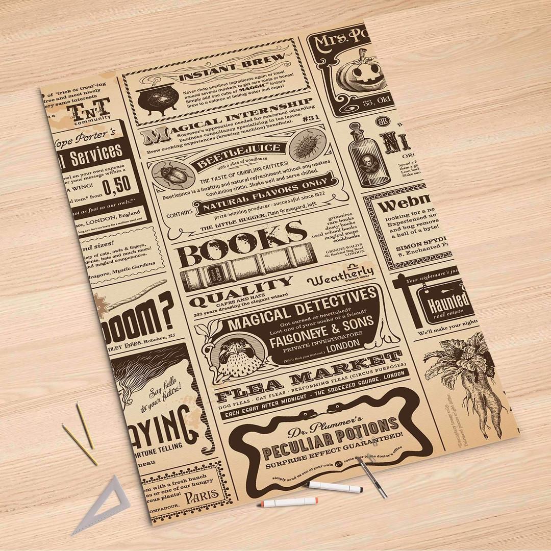 Folienbogen (100x150cm) - Vintage Newspaper - CR106303