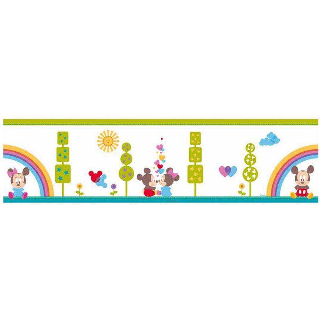 Wandtattoo Bordüre Mickey & Minnie - Baby