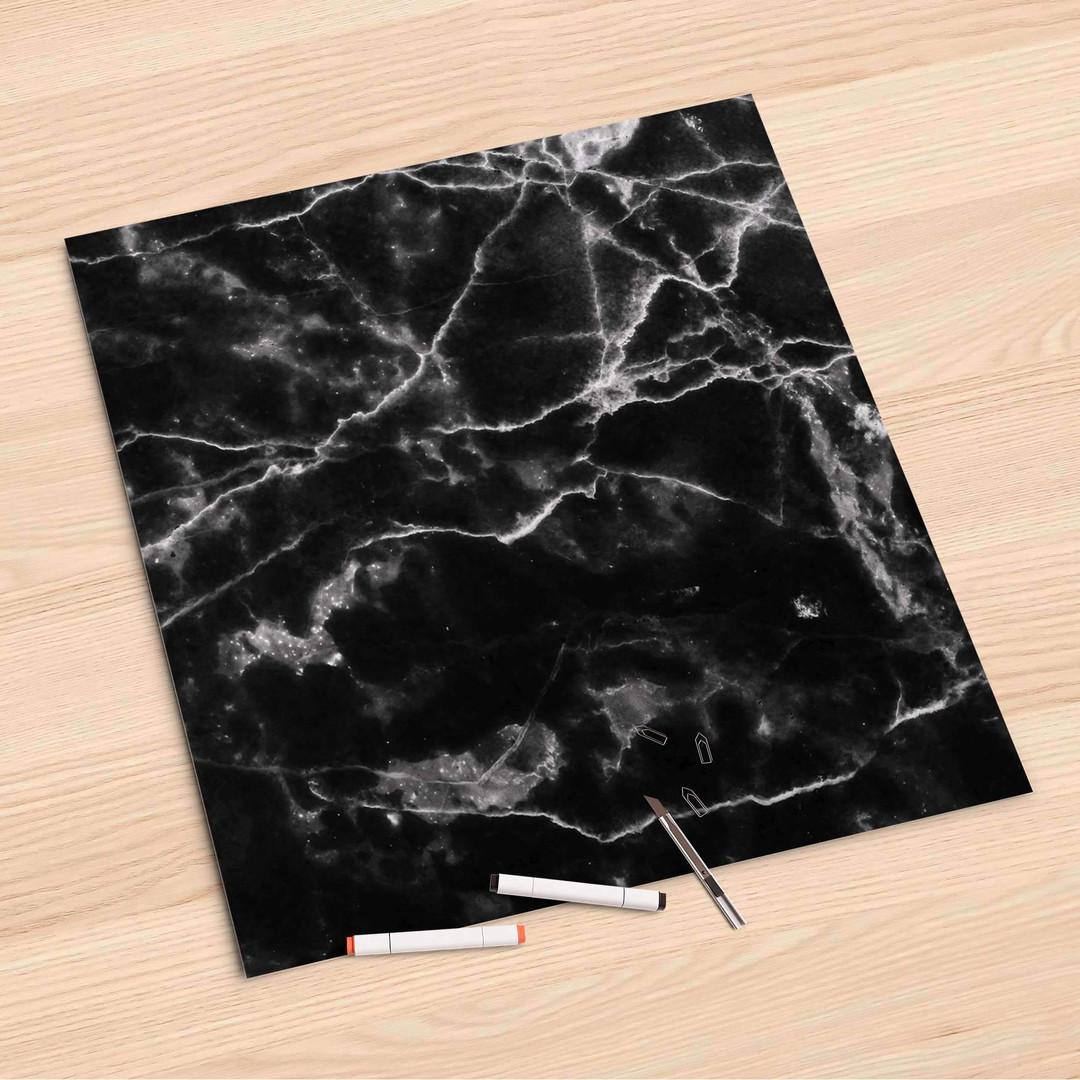 Folienbogen (60x60cm) - Marmor schwarz - CR107126