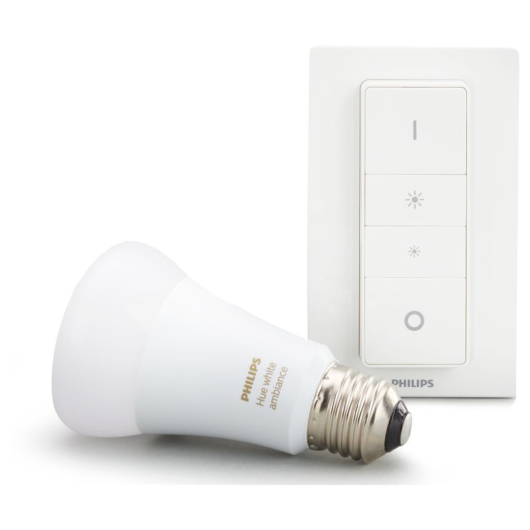 Philips Hue White Ambiance LED E27 9.5 W mit Dimmschalter Bluetooth - CL120449