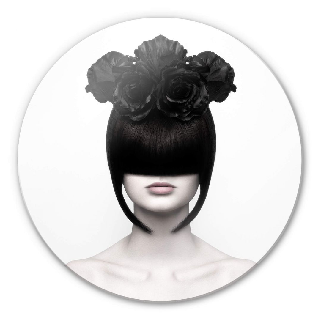 Glasbild Nemcekova - Black Widow - rund - WA252960