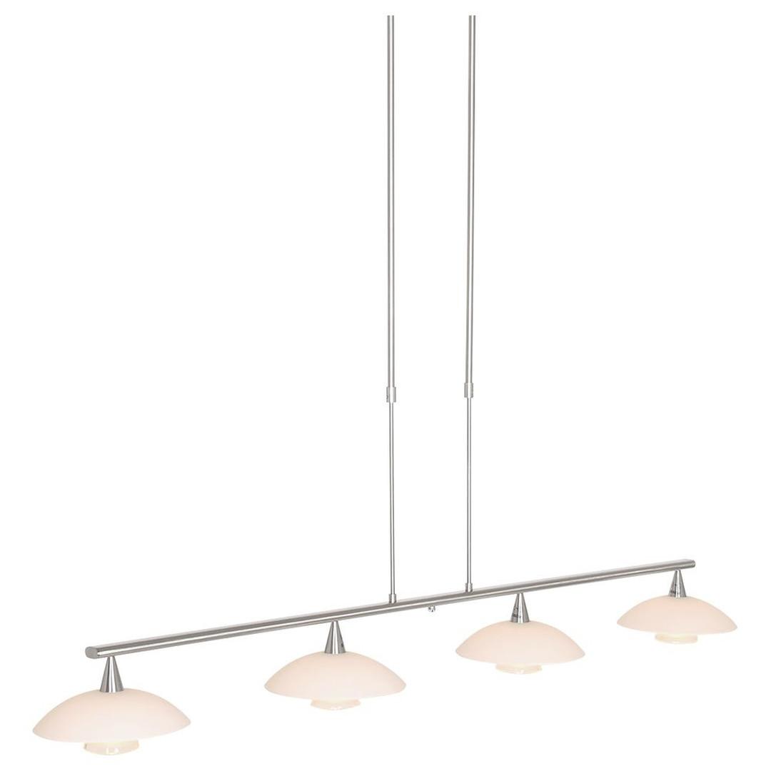LED Pendelleuchte Tallerken in Silber und Weiss 4x 3W 1200lm G9 4-flammig - CL130125