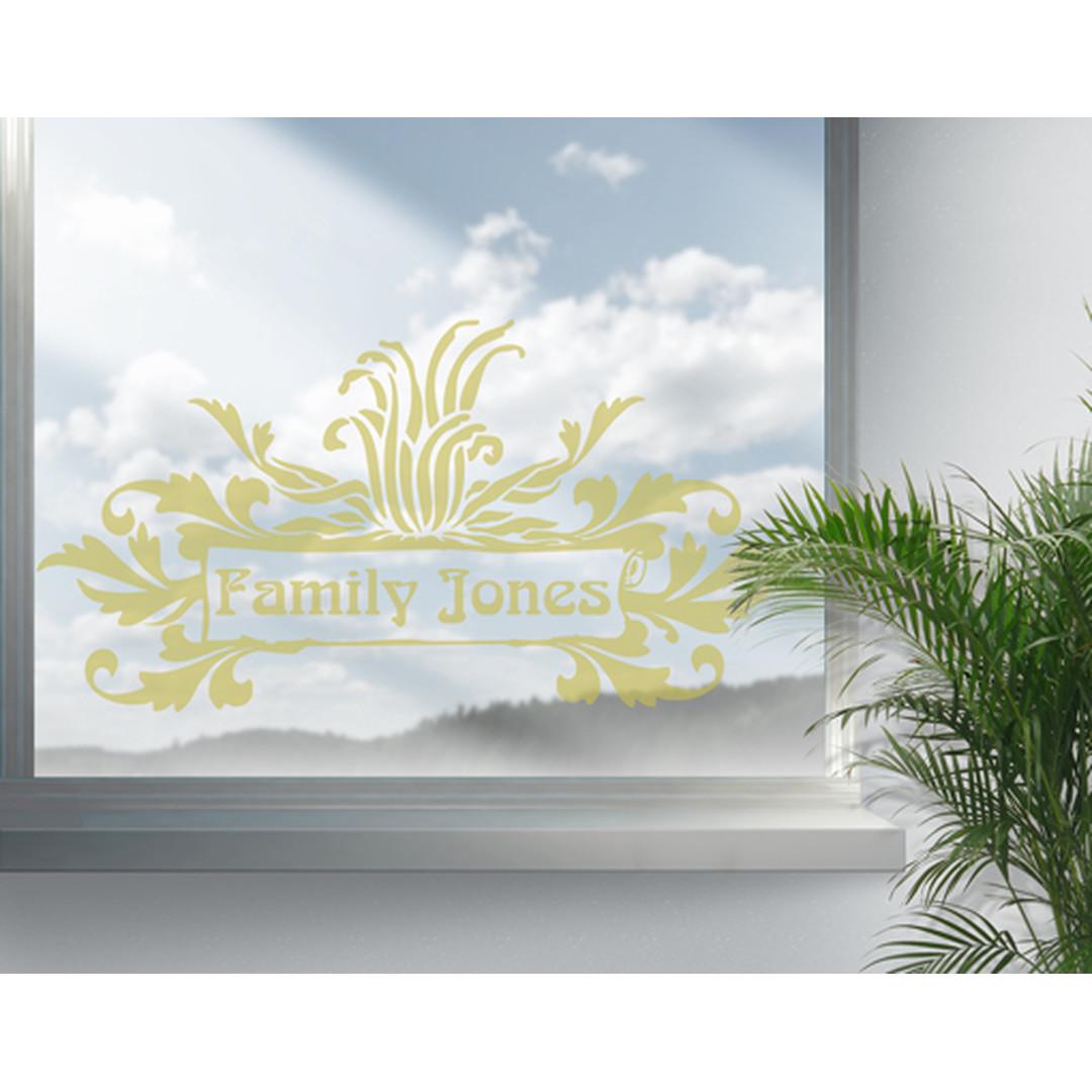 Glasdekor WunschText Laubornamentik - CG10561